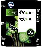 HP 920XL Black Officejet Ink - 2 pk.