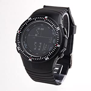 TIME100 Cool Multifunction Black Strap Sport Electronic Watch #W40018M.02A