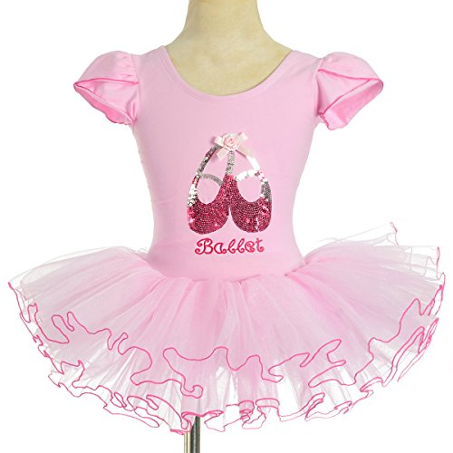 Dressy Daisy Girls' Sequined Ballerina Shoe Ballet Tutus Fairy Dance Costumes