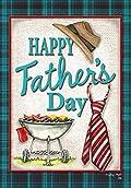 Happy Father's Day Garden Flag Dad Celebration Necktie BBQ Banner 12