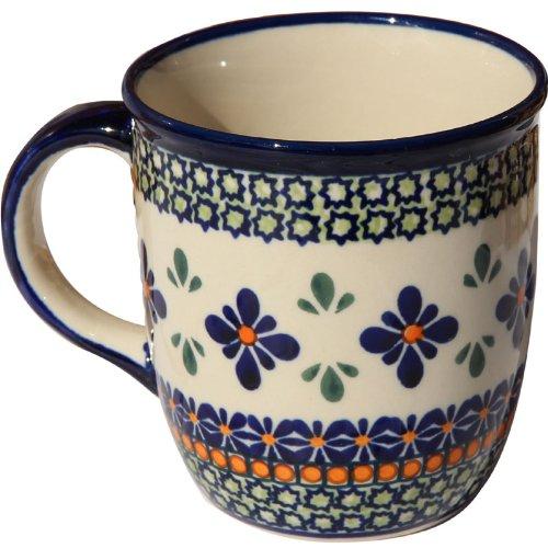 Polish Pottery Mug 12 Oz. From Zaklady Ceramiczne Boleslawiec 1105-Du60 Unikat Pattern, Capacity: 12 Oz.