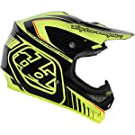 Troy Lee Designs Delta Air Motocross/Off-Road/Dirt Bike Motorcycle Helmet - Yellow/Black / Medium