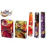 Sai Mangal Agarbatti/Incense Sticks Pooja Special Series With Dhoop Sticks- Pooja Special, Lavender & Rose With...