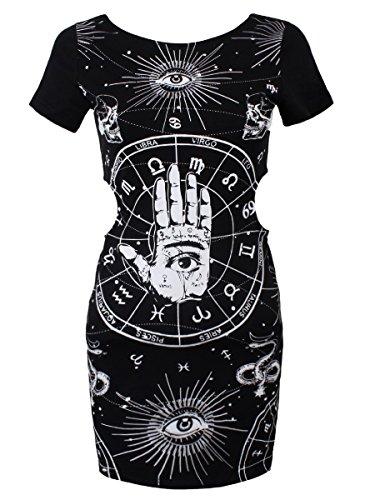 Nuovo Jawbreaker gotico oeme occulto Hamsa Hand occhio della provvidenza Tunika dell'abito