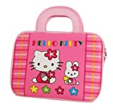 Hello Kitty Themed Prestigio MultiPad 10.1 Ultimate / 3G Tablet Sleeve with Handles with Kitty & Bunny Pattern (Neoprene Exterior, Velcro Handles, Dual Zippers)
