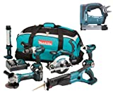 Makita 18V LXT Li Ion DK18027 6 Piece Kit And BST221 BST221Z BST221Rfe Stapler