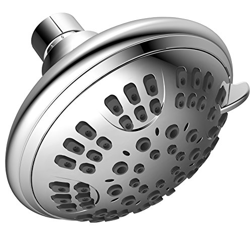Xogolo 6 Function Luxury Shower Head - Best High Pressure, Wall Mount, Adjustable Showerhead, Luxuary Overhead Expereince - Chrome (Shower Head Removable Restrictor compare prices)