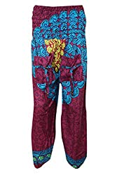 Indiatrendzs Pink Blue Trouser Harem Pants Front Pocket