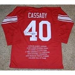 Hopalong Cassady Signed Jersey - Howard #40 Stat - Autographed College Jerseys