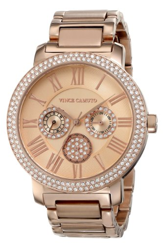 Vince Camuto VC/5000RGRG - Reloj para mujeres, correa de acero inoxidable color dorado