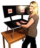 The Executive Stand Steady Standing Desk / Stand up Desk (Black)