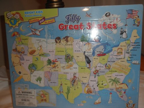 Bright Kids Brilliant Rewards Fifty Great States Puzzle