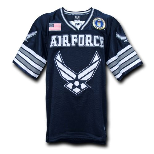 Rapid Dominance US Air Force Military Football Jersey - Navy Blue - XLarge -