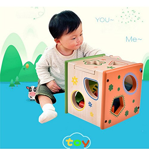 Sealive Wooden Blocks Multicolorful Cartoon Cool Design Kid Educational Toy,Birthday&Christmas Gift For 0-15 Years Kids Learning skills (Intelligence Box) (Eco Blocks For Wood Stove compare prices)