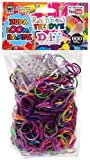 "Loom Bandz - Tie Dye Rainbow Colours - 600 Count with 24 ""S"" Clips"