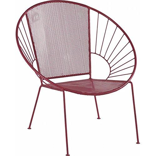 Poltrona Isos marca hanjel Seggiolino di Salone di giardino modo Poltrona acciaio anticato Fucsia 67x 70x 71cm