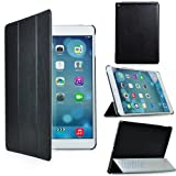 Eallc Tri-fold Smart Leather Stand Case Cover for Apple iPad Air (5th Generation iPad) with Auto Sleep/Wake (black)