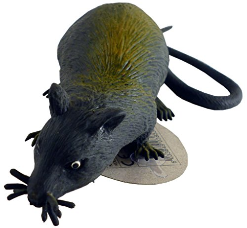 13cm Rubber Stretchy Rat With Long Tail - Halloween - Novelty Toys (HL17) [Toy]