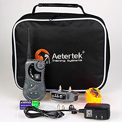 Aetertek AT-218 Submersible Remote 550M 1 Dog Training Trainer Pet Shock Control Collar With Auto Anti Bark Feature