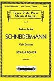 Cadenza for the Schneidermann Violin Concerto (Fugue State Press Classical) (1879193167) by Cohen, Joshua
