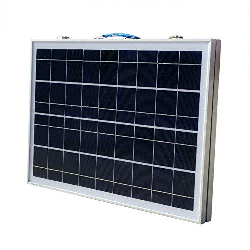 ECO-WORTHY 12V Portable pannello solare 40W Kit completo: 40 Watt modulo solare policristallino pieghevole con 3A Regolatore di carica 12 Volt Caricabatteria per Rv barca