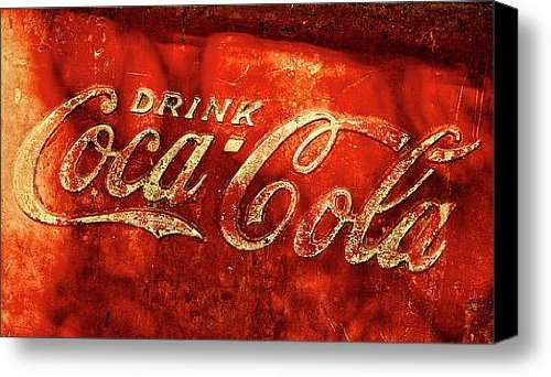 Antique Coca-Cola Cooler Canvas Print / Canvas Art - Artist Stephen Anderson