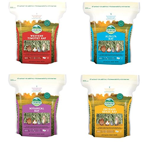 Oxbow Mix Hay 4x425 gr - Il fieno più consigliato dai veterinari per piccoli animali erbivori, in quattro varietà