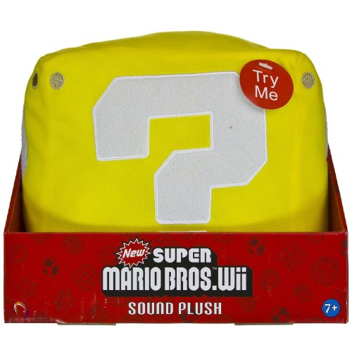 "Question Mark Coin Block Box ~7"" Sound Plush: New Super Mario Bros. Wii Sound Plush Series"