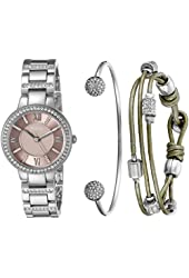 Fossil Women's ES3879SET Stainless Steel Silver-Tone Watch Set