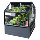 "GrowCamp FC3050 Ultimate Vegetable Grower (4' x 4' x 12"") with 3-Feet high greenhouse frame"