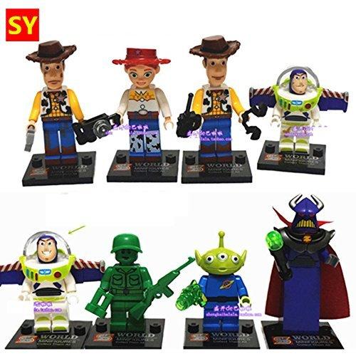 Toy Store 0210 8pcs Toy Story Jessie Woody Buzz Lightyear Custom Minifigure Diy Building Block