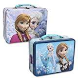 Disney Frozen Anna & Elsa Embossed Tin Lunch Box – $8.68!