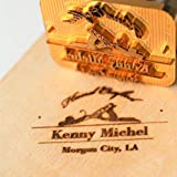 Custom Logo Wood Branding Iron,Durable Leather Branding Iron Stamp,BBQ Heat Stamp Including The Handle,Saw Blade Design Stamp (4x4