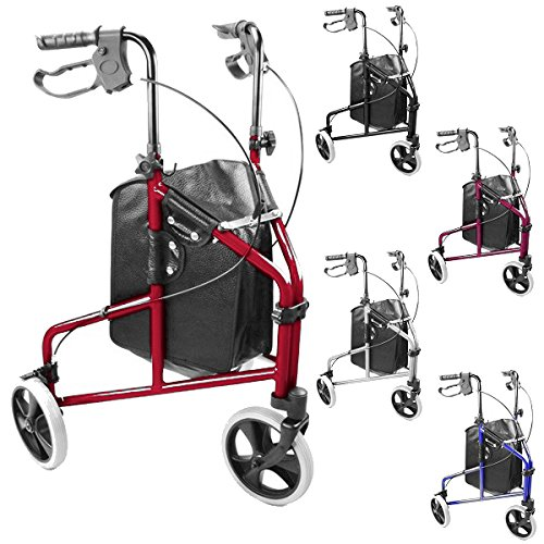 ultra-lightweight-3-wheeled-rollator-tri-walker-with-brakes-and-shopping-bag-choice-of-colours-blue