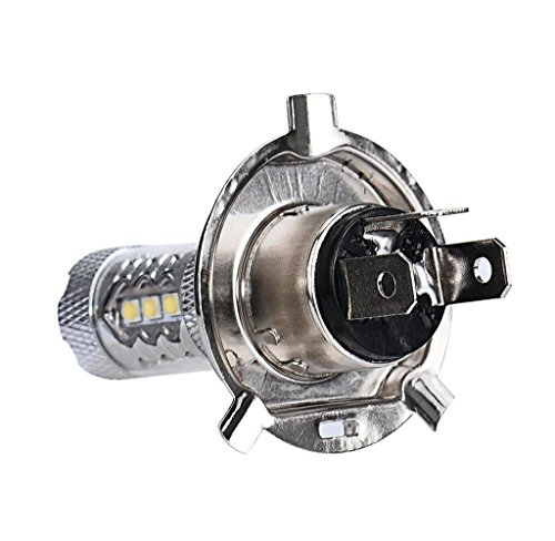 MOKAO 2pcs 80W White H4 9003 HB2 LED Fog Light Bulb 1500LM High Low Beam Headlight (2) (Hb2 Led Headlight Bulb compare prices)