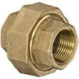 "Anderson Metals 38104 Red Brass Pipe Fitting, Union, 3/4"" Female Pipe"