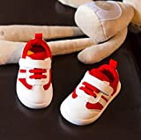 (チェリーレッド) CherryRed ベビーシューズ 赤ちゃん 乳児靴 赤ちゃん 新生児 歩き始め お出かけ 出産祝い 滑り止め 0-1-3才 19 3#