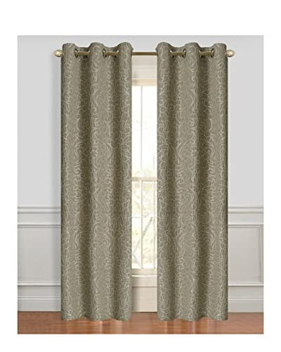 Cay Trading Set of 2 Dainty Home Miranda Window Panels, Taupe