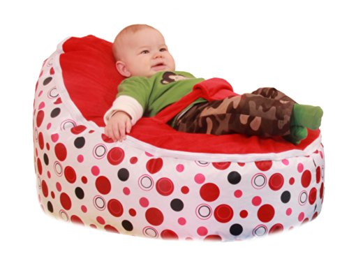 Awesome Baby Bean Bag Chair Filled And Waterproof Red Polka Dots Bralicious Painted Fabric Chair Ideas Braliciousco