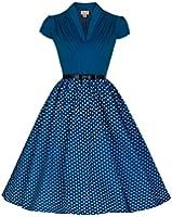 Lindy Bop 'Megan' Flirtatiously Fun 50's Vintage Inspired Polka Party Dress