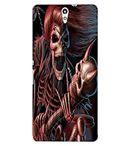 ColourCraft Rockstar Skeleton Design Back Case Cover for SONY XPERIA C5 ULTRA DUAL