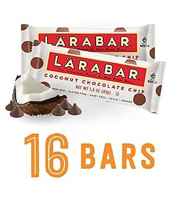 Larabar Gluten Free Snack Bars, Coconut Chocolate Chip, 1.6 Ounce Bars (16 Count)