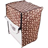Dream Care Floral Brown And Beige Printed Waterproof & Dustproof Washing Machine Cover For IFB Front Load Senorita-SX...