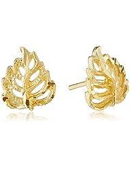 Jewel House Golden Plated Stud Earrings For Women (Golden) (JHBE3036)