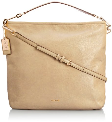 Coach Madison Leather Hobo Light Gold/Tan front-560893