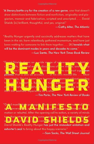 Image of Reality Hunger: A Manifesto (Vintage)