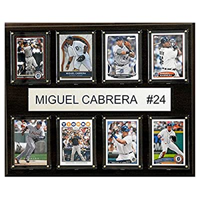 C and I Collectables MLB 15W x 12H in. Miguel Cabrera Detroit Tigers 8 Card Plaque