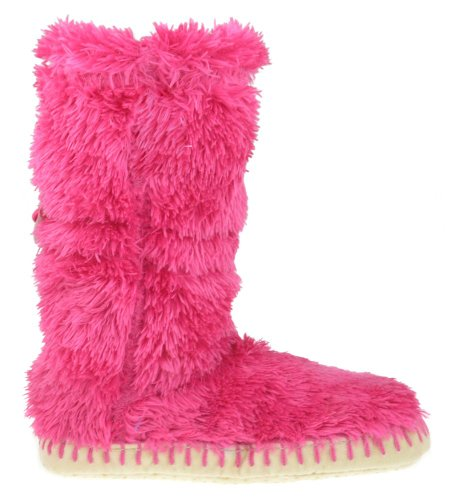 Image of Capelli New York Teddy Fur Boot With Elastic Toggle Girls Indoor Slipper (B004AHJCVC)