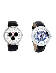 Gledati Men's White Dial And Foster's Women's White Dial Analog Watch Combo_ADCOMB0001875