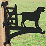 Labrador By Gate Hanging Basket Bracket